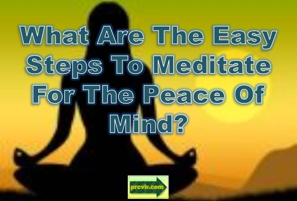 meditate for peace of mind