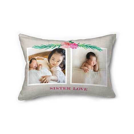 personalized blanket pillow photo