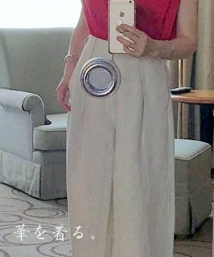 50代のフレンチ袖コーデ