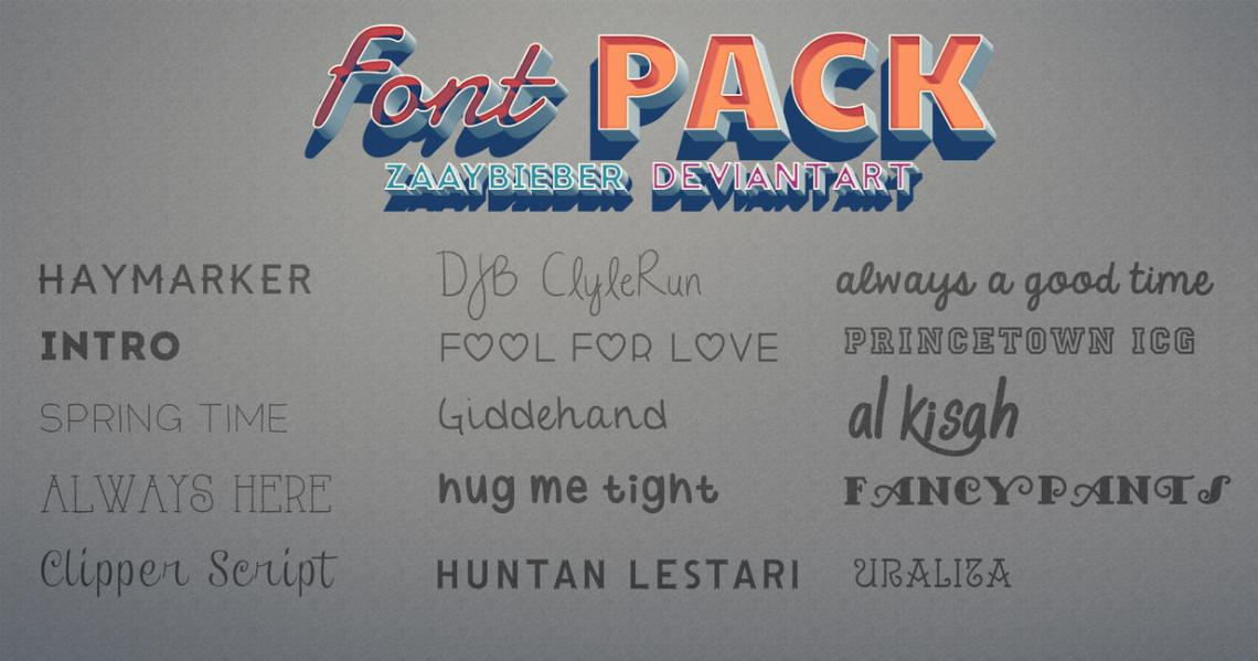 Download FONT PACK! by ZaaYBieber on DeviantArt