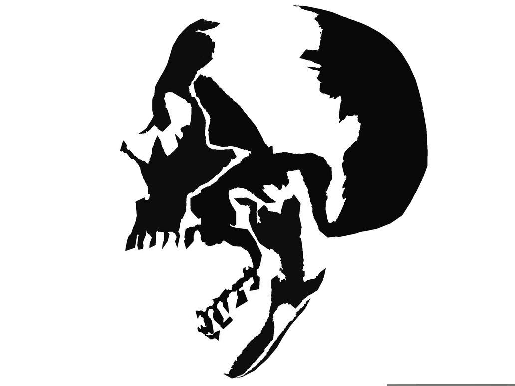 Digital Stencil Of Skull By Lkwai On Deviantart