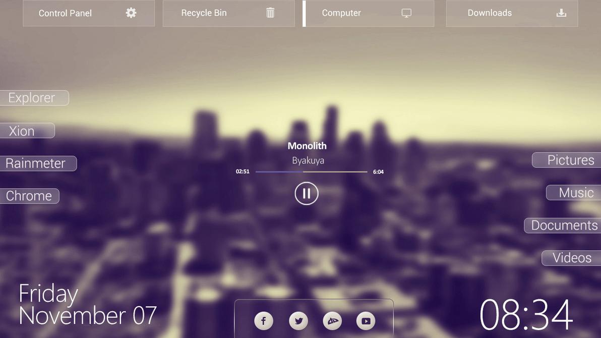 Image result for rainmeter glass theme