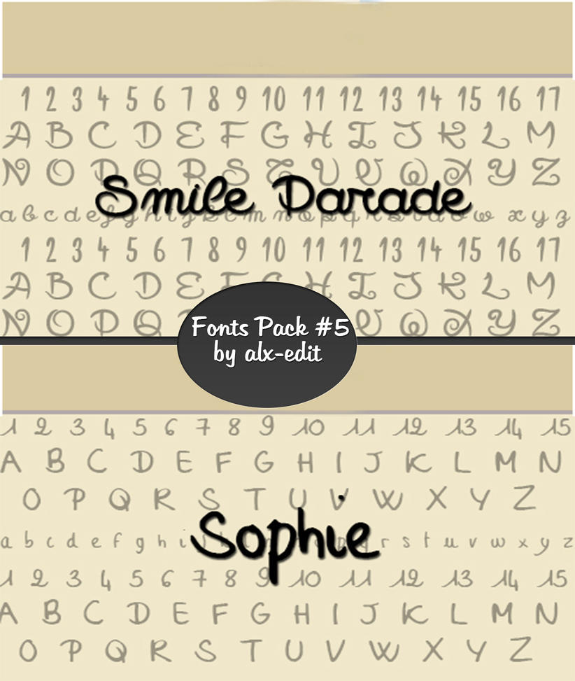 Download Fonts Pack #5|Photoshop| by alx-edit on DeviantArt