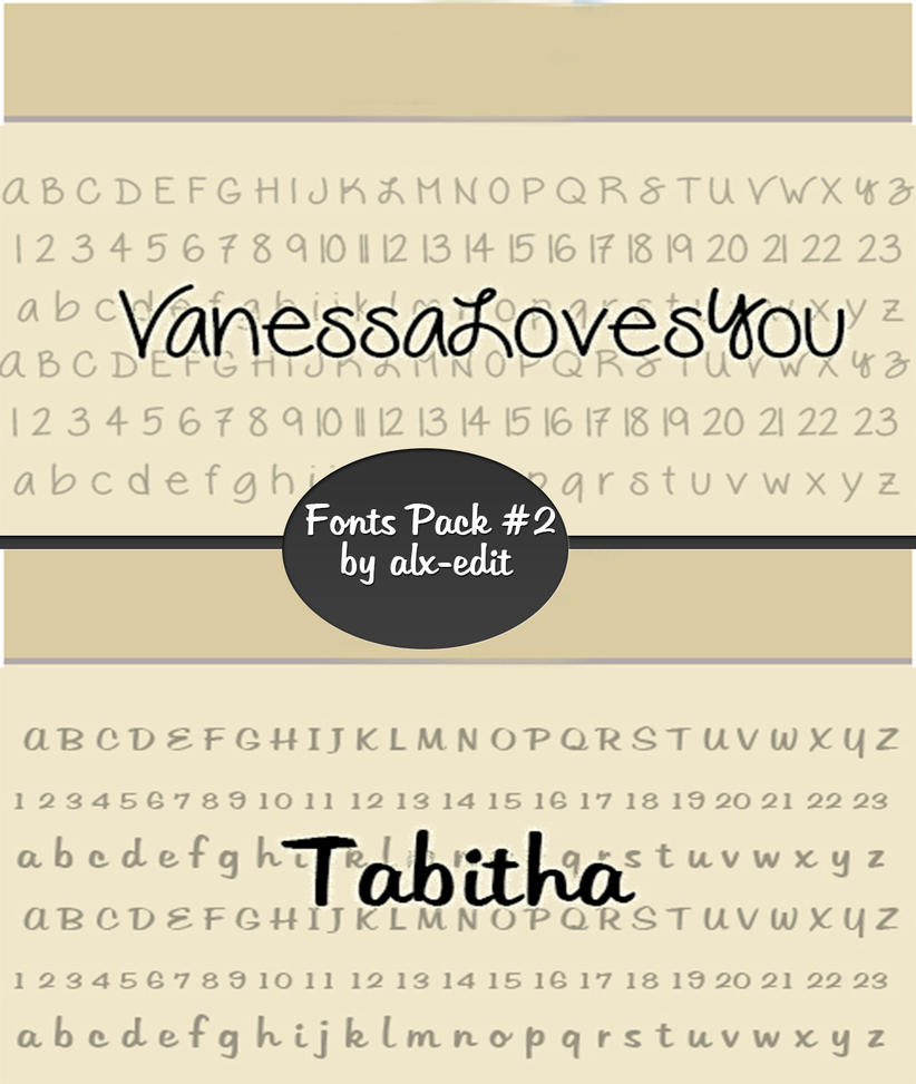 Download Fonts Pack #2|Photoshop| by alx-edit on DeviantArt