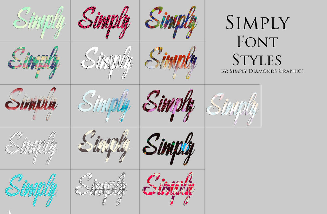 Download Font Style Pack 2 by SimplyDiamonds on DeviantArt