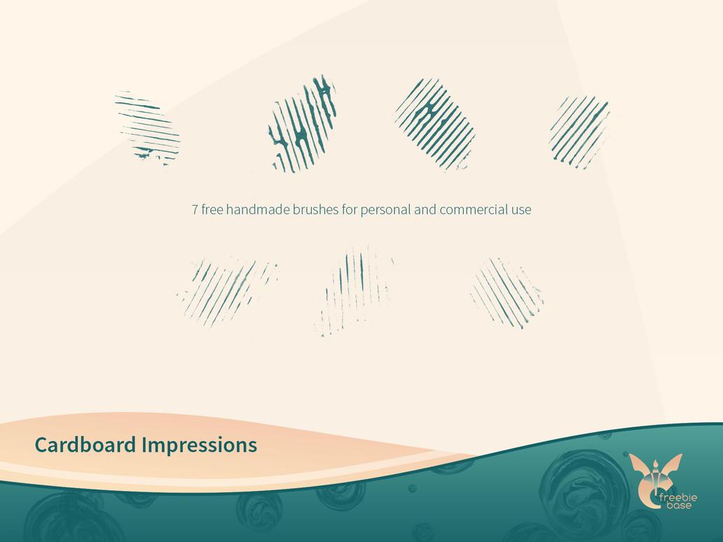 cardboard impressions brushset link