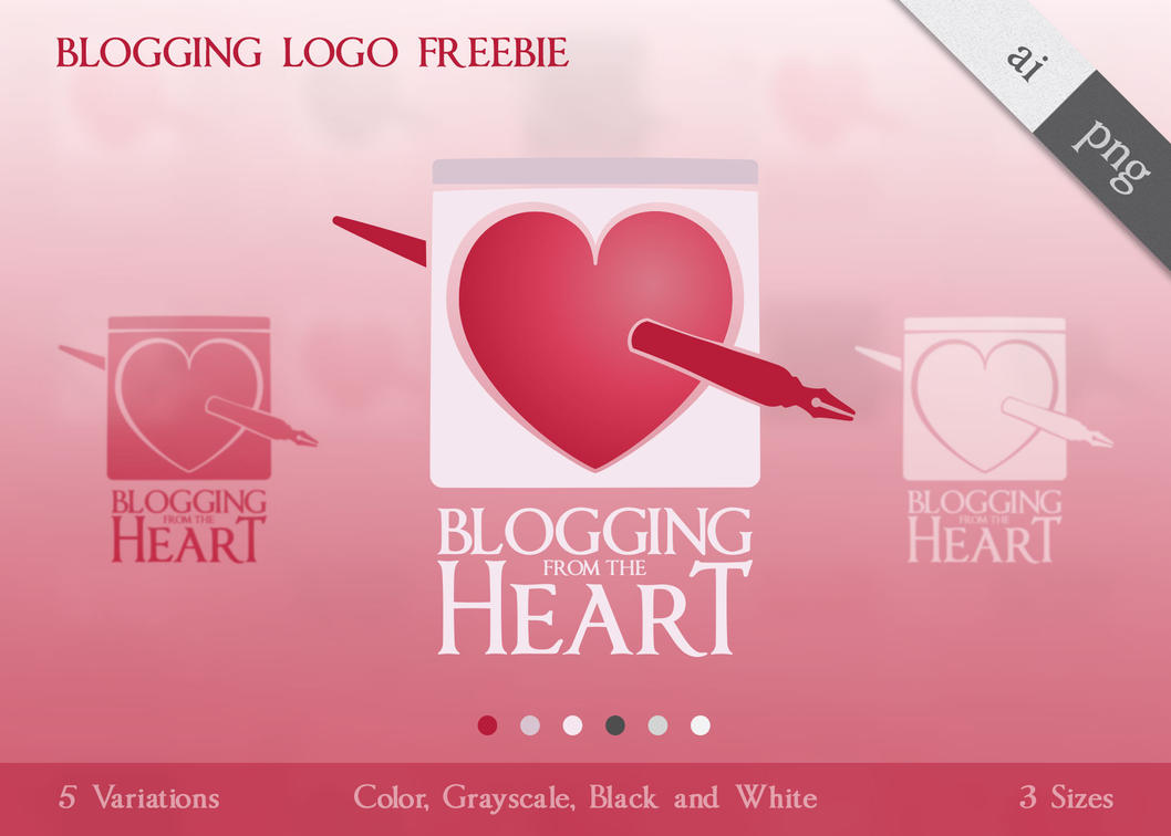 blogging from the heart logo freebie