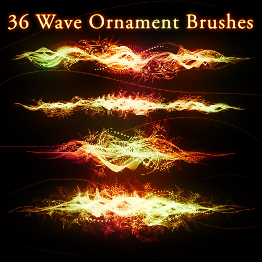 36 Wave Ornament Brushes by XResch