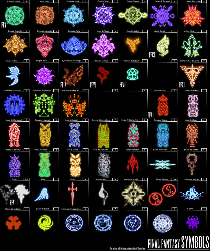 Final Fantasy Symbols By Hechiceroo On DeviantArt