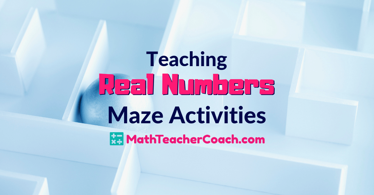 Real Number System Maze Activities