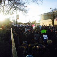 Non-violent Chicago protests chase Trump out of town.