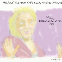 Hillary Clinton channels Steve Martin.