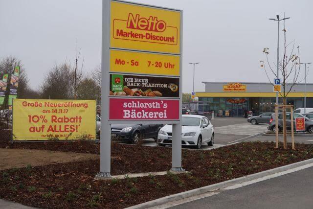 Abbildung des Objektes Discountmarkt in Röthlein der PREBAG AG