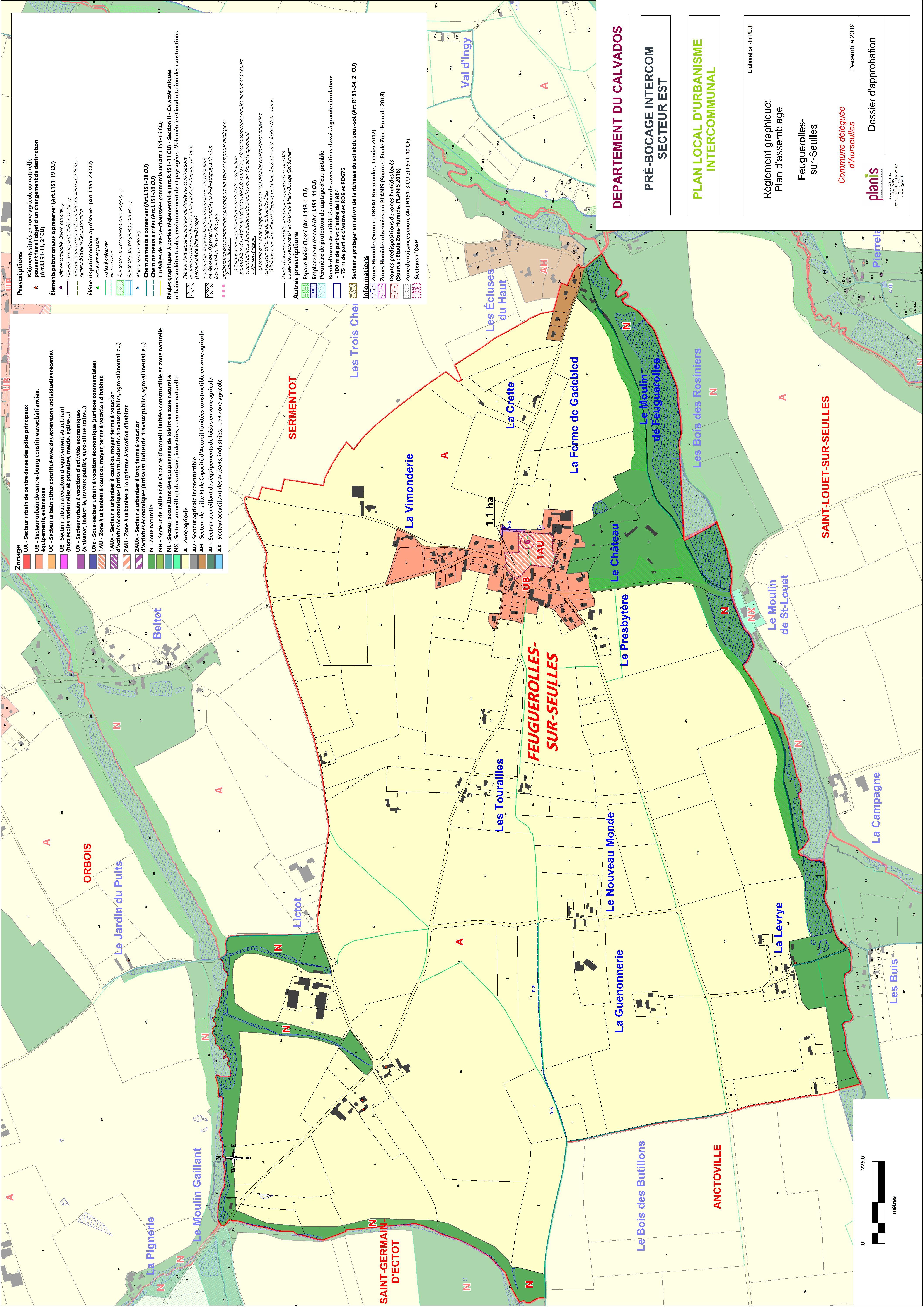 PLUi EST – Secteur 1 – Feuguerolles-Sur-Seulles