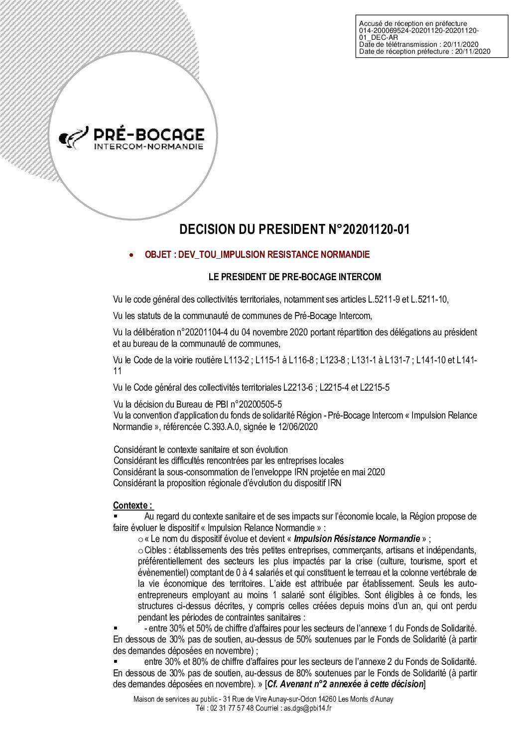 Décision déléguée du 20 novembre 2020