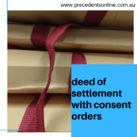 Deed of Settlement with Consent Orders