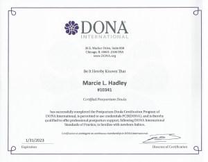 DONA postpartum doula