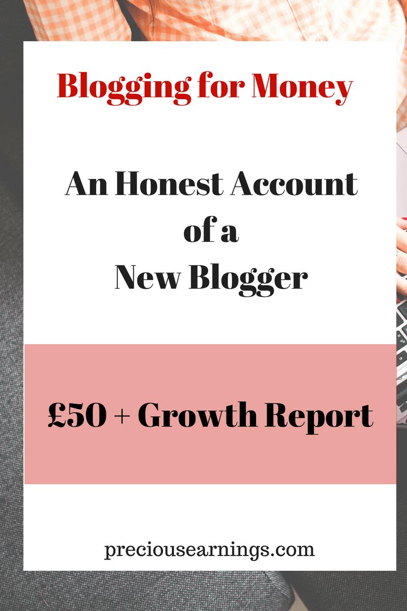 Blogging for money honest account final