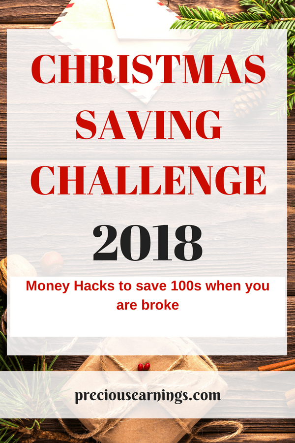 money saving challenge for christmas