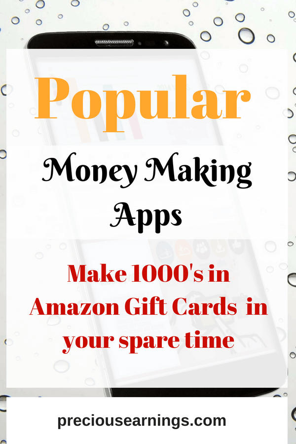 popular money making apps to get free amazon gift cards