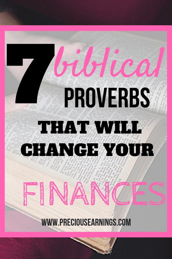 7 biblical proverbs that will change your finances