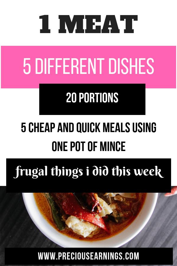 frugal meals