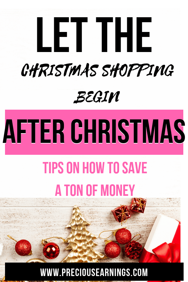 Let the Christmas shopping begin : After christmas