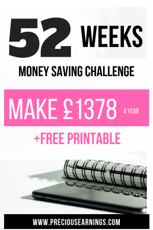52 WEEK MONEY SAVING CHALLENGE PINTEREST