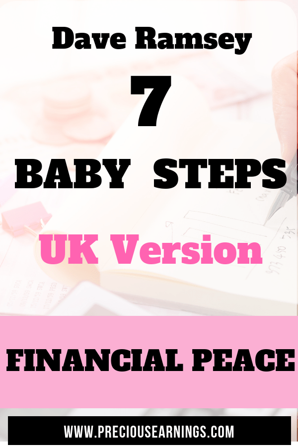 Dave Ramsey 7 baby steps to financial peace: UK version