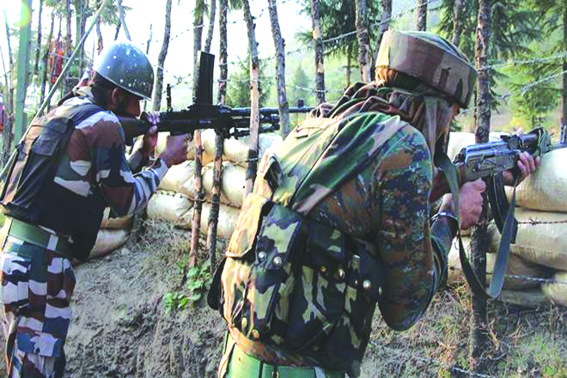 Soldier killed, 3 injured in cross-LoC firing