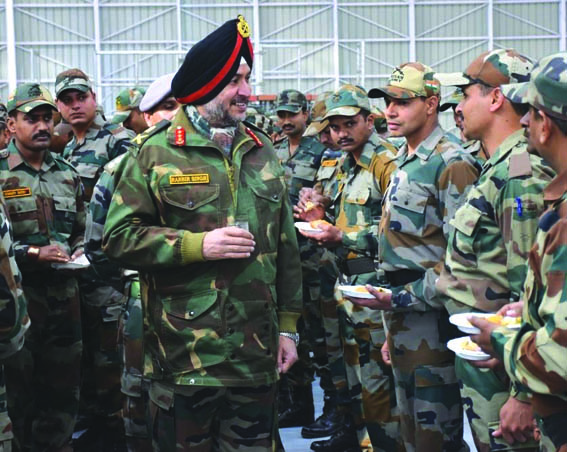 Army Commander visits forward areas, reviews security