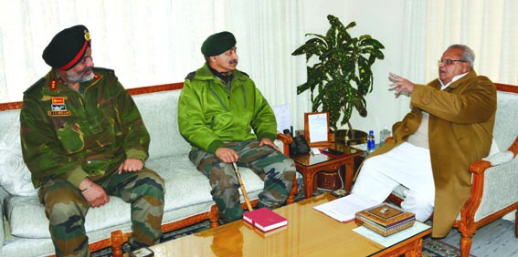 GoC meets Governor, briefs him about security situation in valley