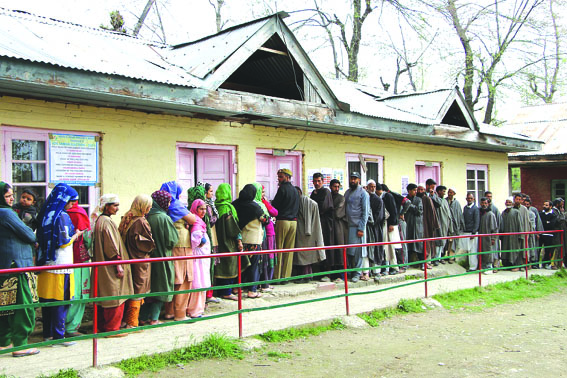 J&K records 57.31 % voter turnout in first phase