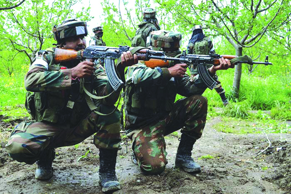 Four militants killed in Shopian gunfight
