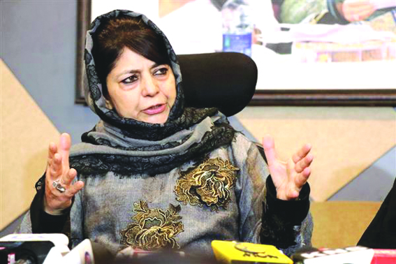 Centre trying to inflict emotional partition of J&K: Mehbooba