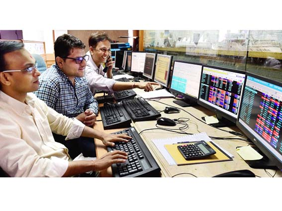 Sensex ends 100 points up after volatile day, Nifty below 11000