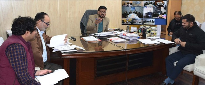 Commissioner Secy PHE, I&FC reviews status of languishing projects