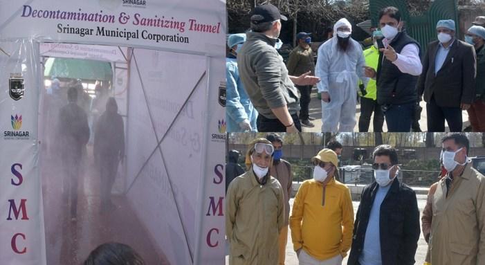 SMC installs disinfectant tunnel at CD Hospital in Srinagar