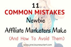 common affiliate marketing mistakes