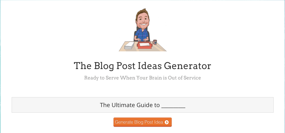 build your own blog free blog content generator