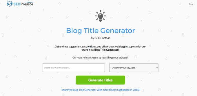 seopressor free blog content generator