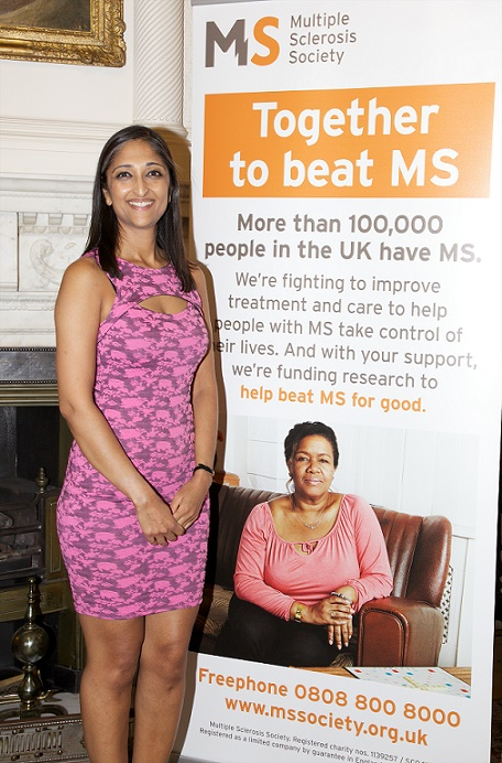 image of Trishna Bharadia with MS poster