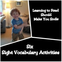 Six Sight Vocabulary Play Ideas (Learn to Read in a Playful way)
