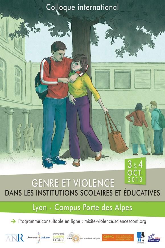Affiche colloque Genre et Violence - Oct 2013