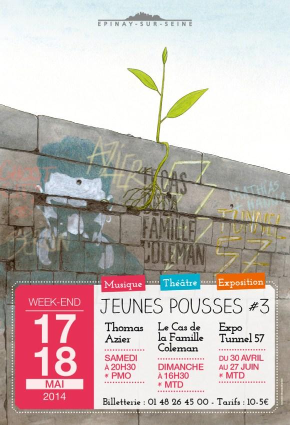 Jeunes Pousses #3 à Épinay-sur-Seine: l'affiche