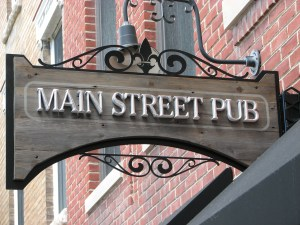 Pirok Design's Main Street Pub sign