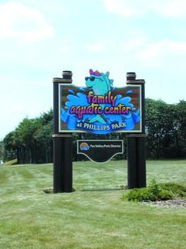 Pirok Design's Family Aquatic Center sign