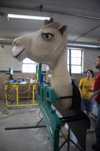 Steel frame 3D camel sign