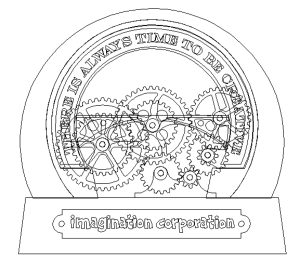 enroute drawing of clock