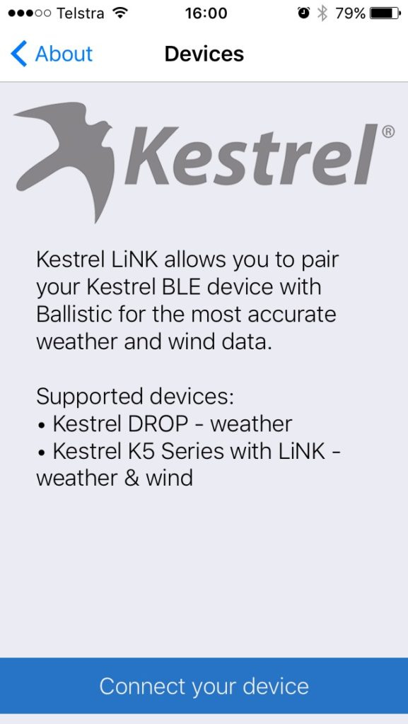 Kestrel Drop Ballistics/Ballistic AE installation 7